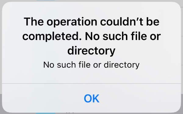 No such file or directory